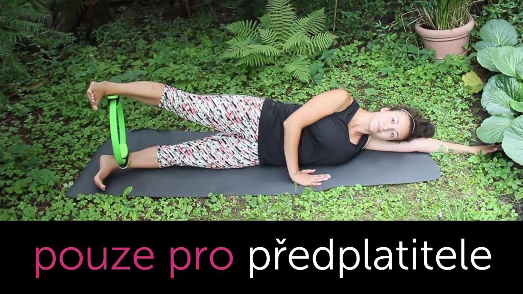 Pilates kruh - dolní polovina těla